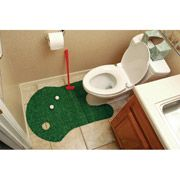"This will definitely be our ""gag""/""Dirty Santa"" Christmas gift this year ;) Golf Gifts & Gallery Clubhouse Collection Bathroom Golf Game"