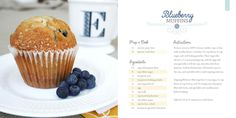 Cookbook by Emily Crawford, via Behance Dessert Book, Dessert Cookbooks, Food Design, Cookbook Design, Food Tech, Web Design Projects, Brochure Layout, Publication Design, Blue Berry Muffins