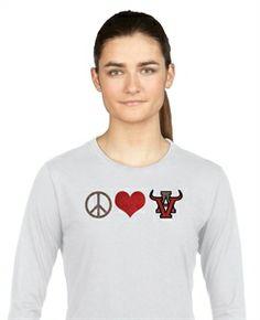Peace, Love, Arbor View in glitter.  #vinyl #glitter http://sparklytees.com/store/arborview