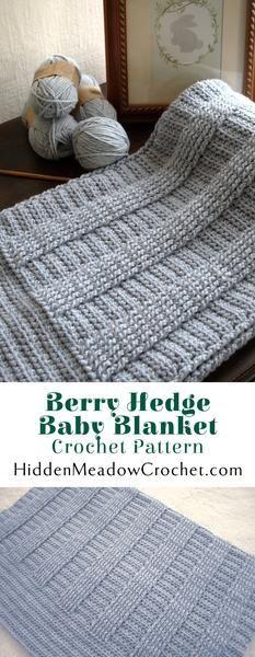 Berry Hedge Baby Blanket Crochet Pattern available at hiddenmeadowcrochet.com