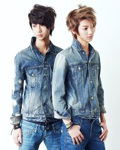 Jo KwangMin, Jo YoungMin - Jo Twins of the K-POP group, Boyfriend. Kwangmin is by favorite