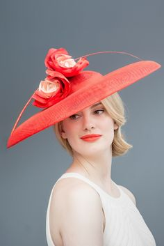 Image of Roses hat with quill
