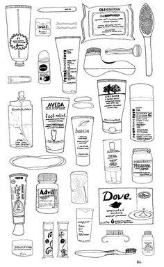 So the February project for The Jealous Curator's challenge is to document the contents of your bathroom cabinet/medicine shelf. I know it's only February but, you guys, this is ea. Drawing Journal, Art Sketchbook, Friends Sketch, Bullet Journal Stencils, Anime Monochrome, Drawing Exercises, Art Prompts, Sketch Inspiration, Daily Drawing