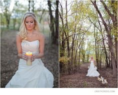 bridal shoot with candles
