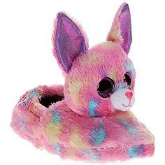 834a5a74d08 Ty Beanie Boo Girls Pink Cancun Slippers Ty Beanie Boos