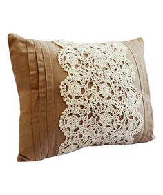 Look what I found on #zulily! Taupe Nicola Oblong Throw Pillow #zulilyfinds $25