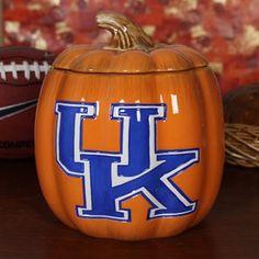 Kentucky Wildcats Ceramic Pumpkin Jar