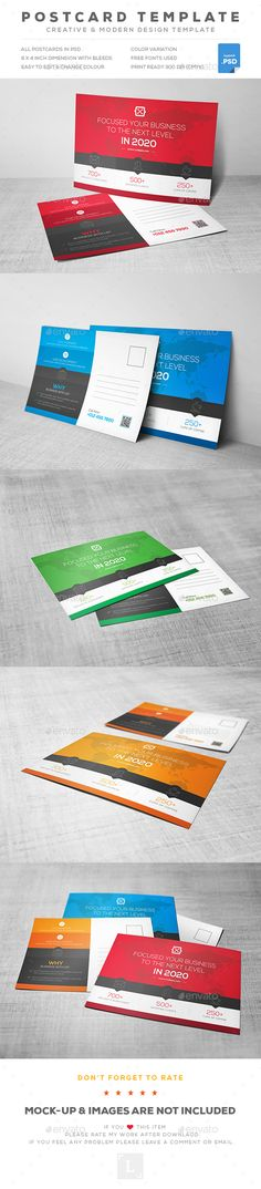 Buy Corporate Postcard by UXcred on GraphicRiver. FEATURES: Easy customizable and editable 300 DPI CMYK Print Ready! Inch with bleed settings Layered and Full. Real Estate Staging, Real Estate Ads, Real Estate Flyers, Postcard Template, Postcard Printing, Postcard Design, Direct Mail Design, Marketing Postcard, Business Postcards