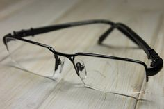 3b35d513d5 CHROME HEARTS BONE POLISHR Ⅲ Semi-Rimmed Hand Crafted Eyeglasses Matte BLACK  Glasses Eyewear Eyeglasses