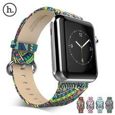 Apple Watch iWatch 38mm 42mm Original Colorful Leather HOCO Band Strap Adapter #HOCO