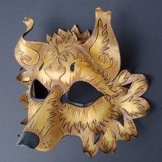 Golden Wolf Mask