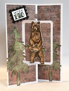 Painted Mountain Cards: Standing Bear Rectangle Pull Card