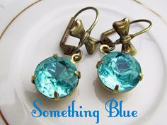 Estate Style Earrings ~ aquamarine earrings, Something Blue, by accessoryalamode on Etsy, $20.00