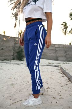 reputable site b440c 73d1c Adidas Joggers Outfit, Adidas Dress, Adidas Sweatpants, Blue Adidas Pants,  Adidas Trackies