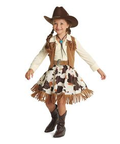 Another great find on #zulily! Cowgirl Dress - Girls by chasing fireflies #zulilyfinds  sc 1 st  Pinterest & 7-Year-Old Creates Cowgirl Costume   Kids craft   Pinterest ...
