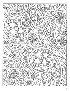dover publications coloring pages printable | coloring pages of paisley | Paisley Designs Coloring Book (Dover ...