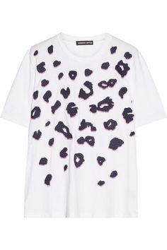 Markus Lupfer - Alex Embellished Embroidered Cotton-jersey T-shirt - White - x small