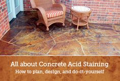 Concrete Acid Stain - Pics, Products, Savvy Advice - DirectColors.com