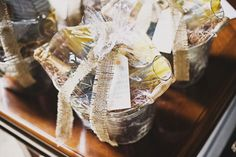 gift baskets for out of towners.