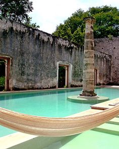 Hacienda Uayamon, Campeche, Mexico isn't this pretty? Honeymoon Vacations, Best Honeymoon, Vacation Spots, Italy Vacation, Honeymoon Destinations, Hotels And Resorts, Best Hotels, Places To Travel, Places To See