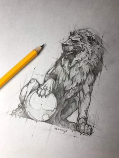 Psdelux is a pencil sketch artist based in Tatabánya, Hungary. He usually draws animal sketches. Psdelux also makes digital drawings. Animal Sketches, Animal Drawings, Drawing Sketches, Pencil Drawings, Art Drawings, Sketch Art, Art And Illustration, Lion Sketch, Lion Drawing
