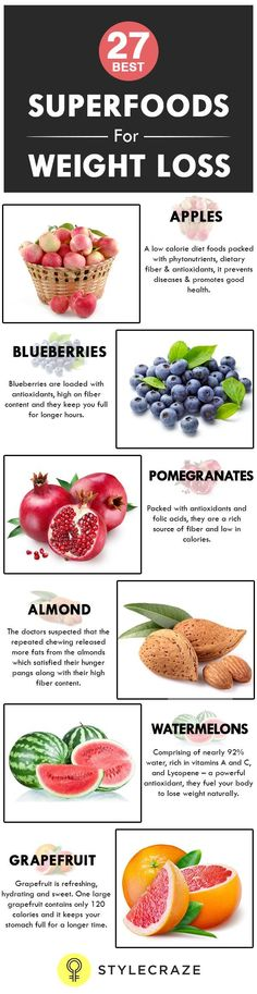Let us look at 27 such super weight loss foods that we can easily incorporate into our daily diet - See more at: http://www.stylecraze.com/articles/10-superfoods-for-weight-loss/