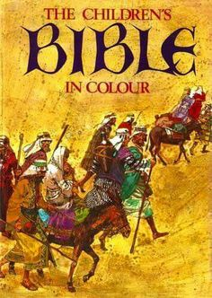 I still have my children's bible: in colour. The flyleaf isn't in great condition though. 1970s Childhood, My Childhood Memories, Sweet Memories, Old Children's Books, Vintage Books, Retro Vintage, Lisa Frank, 70s Toys, Kids Shows