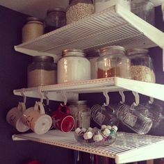 Our Glass Cracker Jars make everything easier to find when searching through a pantry!