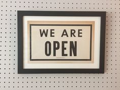 Vintage Sign - WE ARE OPEN by vintagehoneypot on Etsy