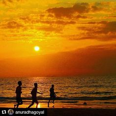 #Repost @anuradhagoyal with @repostapp  Follow back for travel inspiration and tag your post with #talestreet to get featured.  Join our community of travelers and share your travel experiences with fellow travelers atHttp://talestreet.com Every #evening at #sundown its #beachfootball time on #miramar beach in #panaji #Goa . It's a pleasure to see #silhouettes move with a #sunsetonthebeach . There is #dramainthesky and there is action on the beach.  #mygoa #inditales #incredibleindia…