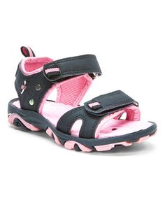 Love this Black & Pink Contrast Sandal by Tender Toes on #zulily! #zulilyfinds