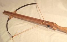 Home made crossbow - very like the one I brought back from Germany!