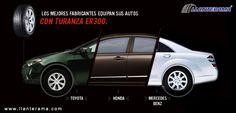 ¿Qué tienen en común Mercedes-Benz, Toyota México y Honda?  Turanza ER300 y muchos modelos más de Bridgestone en: www.llanterama.com