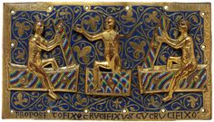 """drakontomalloi: """"Anonymous goldsmiths of Limoges - Plaque with three saints rising from the dead. Resurrection Of The Dead, Westerns, Museum Studies, High Middle Ages, Classical Antiquity, Medieval World, European History, Sculpture, Victoria And Albert Museum"""
