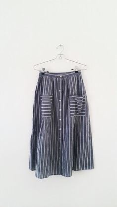 Urban Outfitters Stripe Midi Skirt in Black and White