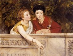 Alma-Tadema  Paintings-Gallo-Roman Women, 1865