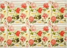 Rice Paper for Decoupage Decopatch Scrapbook Craft Sheet Rose Carpet