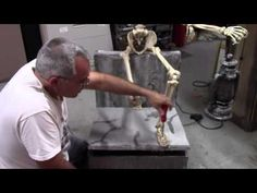 Leering Skeleton Prop - YouTube
