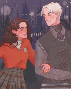 Harry Potter Artwork, Draco Harry Potter, Harry Potter Ships, Harry Potter Memes, Hermione Granger, Draco Malfoy, Character Aesthetic, Character Art, Draco And Hermione Fanfiction