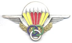 CENTRAL AFRICAN EMPIRE Airborne Parachute Instructor wings, 1970s, ***RARE***