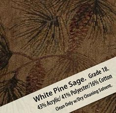 This Upholstery Grade Cabela In White Pine Sage Fabric Has Been Hand Picked For Your Lodge