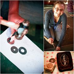 Washer engraving! Young women activity.