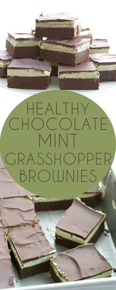 The best low carb chocolate mint brownies. Also knows as grasshopper bars, these are grain-free, keto and sugar-free. Perfect for trim healthy mama and diabetes friendly.