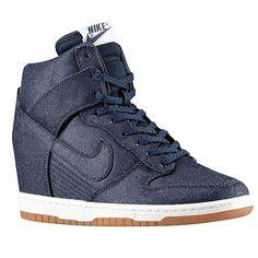 Nike Dunk Sky Hi - Women's Selected Style: Dark Obsidian/Sail/Gum Med Brown/Dark Obsidian | Width - B - Medium | Essential/Wedge Product #: 44877400 FootLocker
