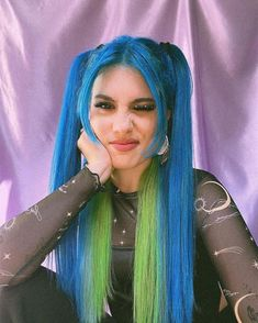 @mrtndamex with this Aurora Green split - Use our Northern Lights Pack to customize your own blue-green shade! #lunartides #bluehair #cyanhair Cyan Blue, Blue Green, Green Hair, Dyed Hair Blue, Turquoise Hair, Cosmetology, Shades Of Green, Hair Pins, Hair Inspiration
