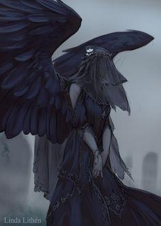 Fantasy Kunst, Dark Fantasy Art, Fantasy Girl, Dark Art, Fantasy Character Design, Character Design Inspiration, Character Art, Angel Of Death, Arte Horror