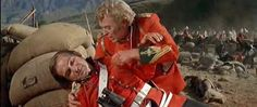 """""""Zulu,"""" (1964) a vivid telling of the Battle of Rorke's Drift where 98 British soldiers stood against several hundred Zulu warriors. The final battle sequence is heart-stopping. One of Michael Caine's first starring roles."""