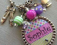 PERSONALIZED bottle cap necklace Butterfly Charm by buttonit