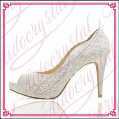 120.00$  Watch here - http://ali71r.worldwells.pw/go.php?t=32785912583 - Aidocrystal hot selling handmade fashion fish mouth women pumps bridal lace high heel wedding shoes free shipping 120.00$