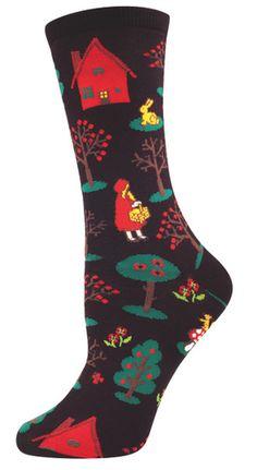 Little Red - Womens Novelty Crew - Womens Socks ($7.50)